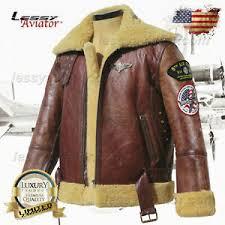 Raf Jacket Size Chart Details About Men B3 Wwii Merino Wool Sheepskin Leather Air Force Army Flight Jacket Usaaf Raf