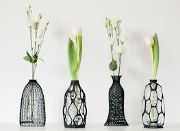 Decorative Bottles And Vases These sculptural vases are designed to use an old plastic bottle 2