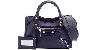 Balenciaga Giant 12 Veau <b>Lisse</b> Mini Tote in Blue - Lyst