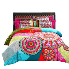 boho king size duvet cover boho bedding set cotton 100 soft colorful duvet cover set twin