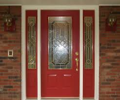 red door glass modern. astonishing red door design idea with trellis stained glass gold handle and modern