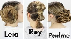 Rey Hair Style 3 Iconic Star Wars Hairstyles Tutorial Youtube 2181 by stevesalt.us
