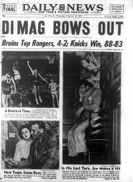 Image result for 1951 - Joe DiMaggio (New York Yankees) announced his retirement from major league baseball. DiMaggio only played for the Yankees during his 13-year career.