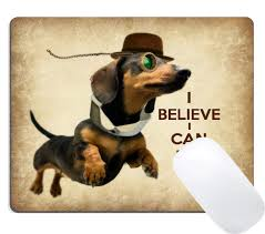 Amazoncom Summer M Custom Mouse Pad Funny Sausage Dog Cute Flying