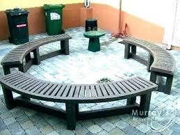 outdoor seating around me circle patio furniture circular semi round bench wonderful green plastic garden