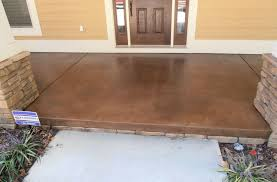 staining concrete floors outdoors