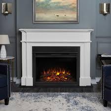 electric fireplace white manufacture wood grey laminated flooring cyan wall blue foam microfiber modular mid century modern sofa cone beige fabric table