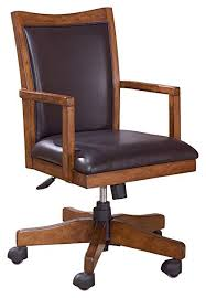 Wooden swivel desk chair Vintage Wooden Image Unavailable Chairish Amazoncom Ashley Furniture Signature Design Cross Island Swivel