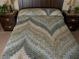 Bargello Flame Quilt -- great skillfully made Amish Quilts from ... & Bargello Flame Batik soft and gentle King size bed quilt Photo ... Adamdwight.com