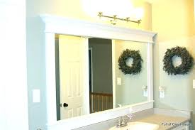 full size of rustic wood frame bathroom mirror grey framing ideas framed mirrors what large furniture