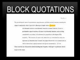 Mla Block Quote