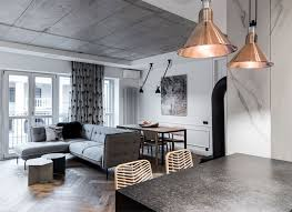 contemporary gray living room furniture. Beautiful Contemporary Trendy Brass Elements And Lamps Woven Osier Chairs With Eclectic  Expression Combining Organic Traditions Contemporary Silhouettes Exposed Concrete  In Contemporary Gray Living Room Furniture I
