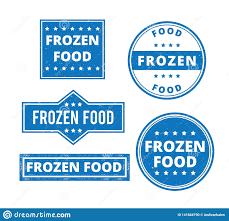 Food Product Label Design Template Set Of Frozen Food Product Label Grunge Textured Vector