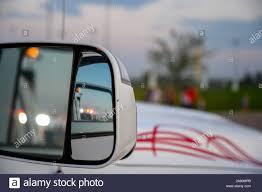 Mirror Emergency Lights Police Car Lights Mirror Stock Photos Police Car Lights