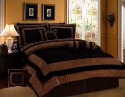 7 pieces chocolate brown suede short fur comforter set queen bedding set bed in