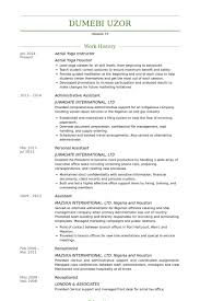 Aerial Yoga Instructor Resume samples