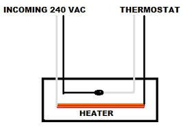 wiring volt baseboard heater wall mounted thermostat attached images