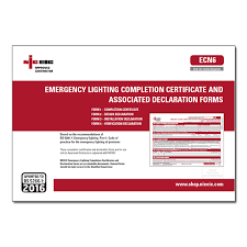 Completion Certificates Ac Emergency Lighting Completion Certificate And Associated Declaration Forms Ecn6