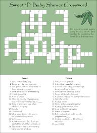 baby shower crossword puzzle