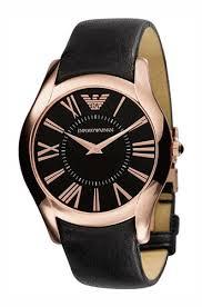 armani watches ar2043 mens super slim black rose gold watch emporio armani watches ar2043 mens super slim black rose gold watch