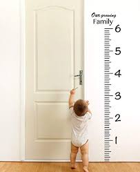 Wall Measuring Chart Giant Vinyl Growth Chart Kit Kids Diy Height Wall Ruler Large Measuring Tape Sticker Number Decal Sticker Black 73x23 Inches