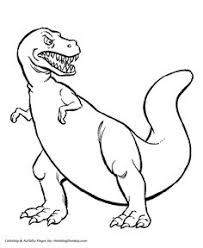 Small Picture Celebrate with this Tyrannosaurus Rex Coloring Page Free