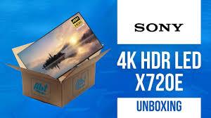 sony kd43x720e. unboxing sony kd49x720e 4k hdr led x720e series kd43x720e