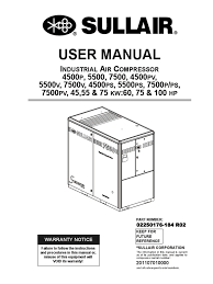 02250176 184r02 sullair user manual valve gas compressor