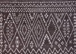 modern boho dark gray taupe ivory moroccan zig zag rug