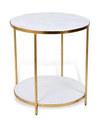 white round end table. White Round End Table