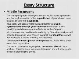 film analysis launch gcse essay structure