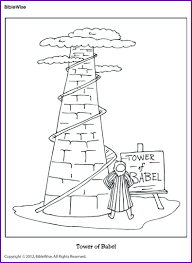Small Picture Tower of Babel Coloring Page Homeschool Bible Pinterest