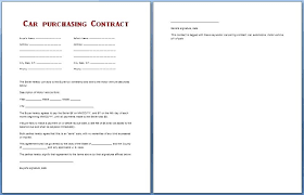 Download By Car Purchase Contract Form Buying Vehicle Service Sheet ...
