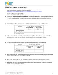 excellent balancing chemical equations worksheet 1 answer key reactions and stoichiometry answers 010005528 1 feccd4616476e7839b8c97b89f3 chemical