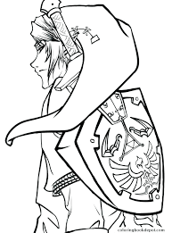 The Legend Of Zelda Coloring Pages Coloring Pages Princess Coloring
