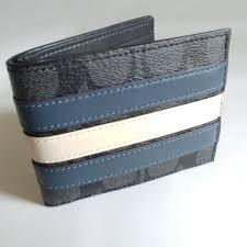 Coach Men s Stripes Signature Slim Wallet