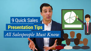 Sales Presentaion 9 Quick Sales Presentation Tips All Salespeople Must Know