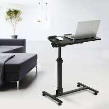 portable laptop desk stand cart with mouse board adjule height swivel tilt