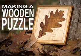 how to make a two tone wooden jigsaw puzzle