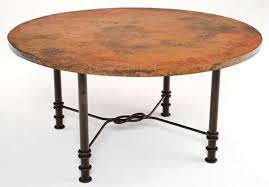 i39ve always loved a round table a hand hammered copper