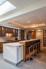 dishy kitchen counter decorating ideas: kitchen counter decorating ideas kitchen contemporary with modern rooflight kitchen island led lighting