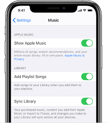 Turn On Sync Library With Apple Music Apple Support