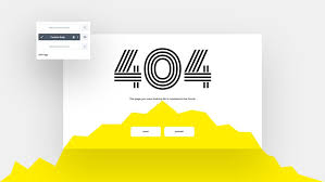 how to create a 404 page template with