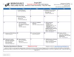 Professional Calendar Template Workshop Calendar Example Templates At