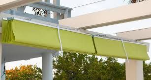 retracted shade canopy on brown jordan pergola kit shade structure