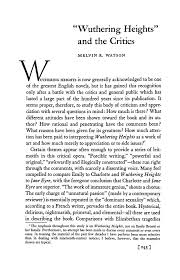 wuthering heights and the critics nineteenth century literature pdf extract preview