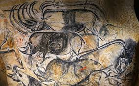 cave art depicting animals in the caverne du pont d arc the