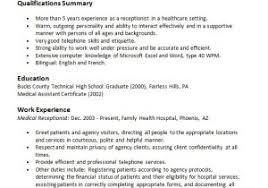 medical receptionist duties for resume sample resume objectives for medical receptionist best photos of
