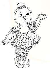 gingerbread baby coloring pages. Plain Pages Skating Girl Gingerbread Mural Girl Throughout Baby Coloring Pages L
