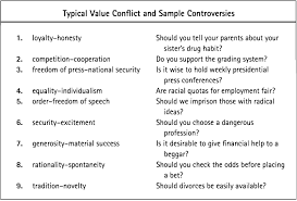 critical reading what are the value conflicts and assumptions for take another look at number 7 in the preceding list it is quite possible that other value conflicts besides that between generosity and material success